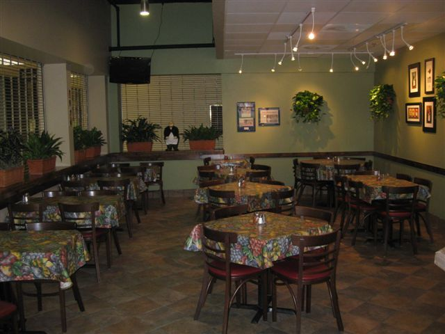 Italian Express after remodel, chairs and tables ready for grand opening